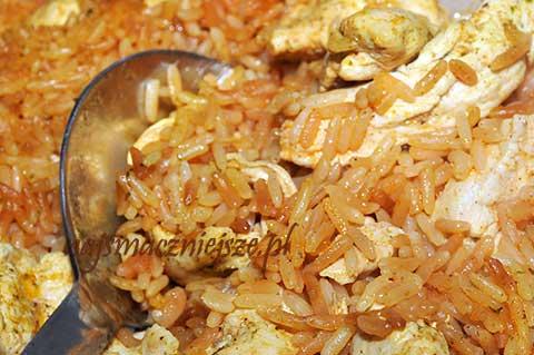 Kurczak z prażonym ryżem