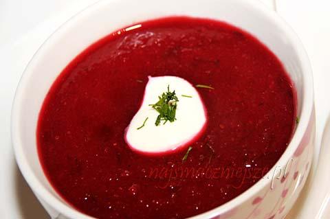 Zupa krem z buraczkami