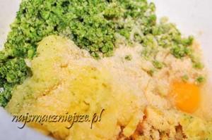 Składniki na kotlety ziemniaczano-brokułowe