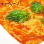Zupa pomidorowa z pieczonych pomidorów