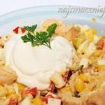 Sałątka z ryżem i kurczakiem