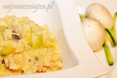 Ryż z cukinią i pieczarkami