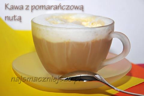 Kawa z pomarańczową nuta