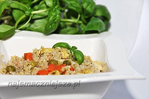 Kasza z kurczakiem i warzywami