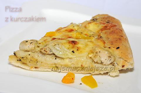 Pizza z kurczakiem i śmietanką