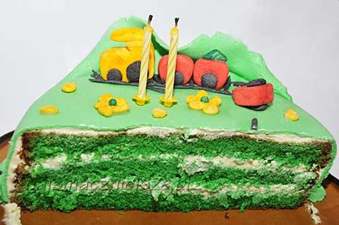 Zielony tort