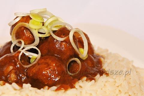 Klopsiki wieprzowe w sosie Chińskie Curry
