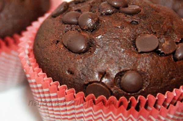 Muffina z czekoladą