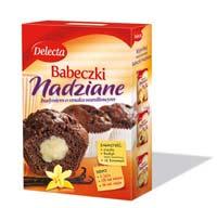 Delecta Babeczka nadziana czekolada