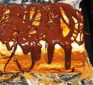 Ciasto przekładane z czekoladą