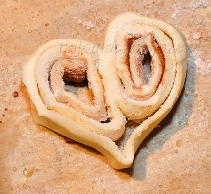 Palmiery serce z cynamonem