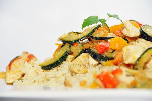 Kurczak z warzywami i kuskus