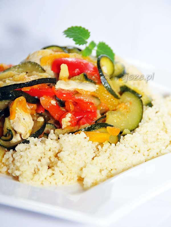 Warzywa z kaszą kuskus
