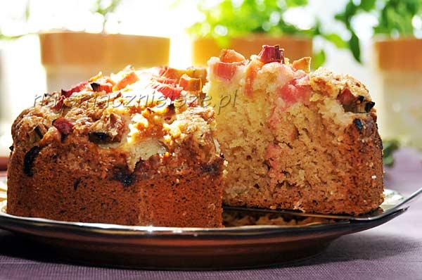 Ciasto z kokosem i rabarbarem