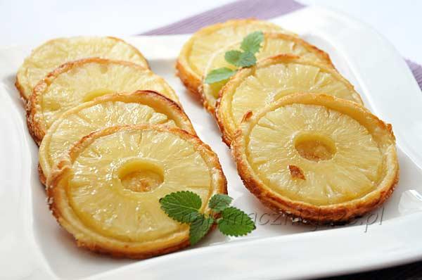 Ciastka francuskie z ananasem