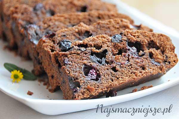 Ciasto czekoladowe z borówkami