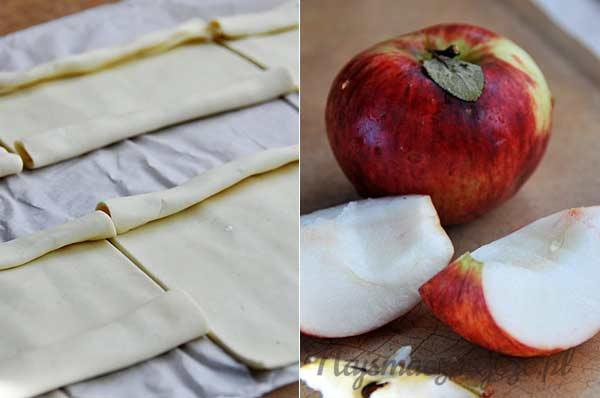 Ciasto francuskie i jabłka