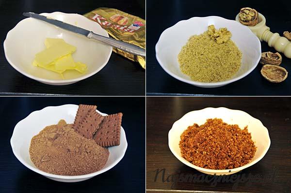 Masa z ciastek i orzechów
