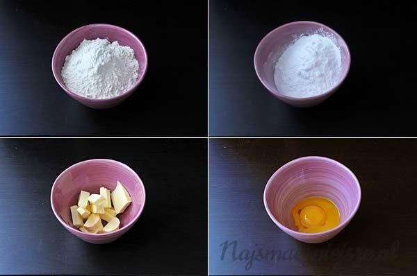 Składniki na tartę na słodko