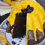 Ciasto czekoladowe z lukrem pomarańczowym