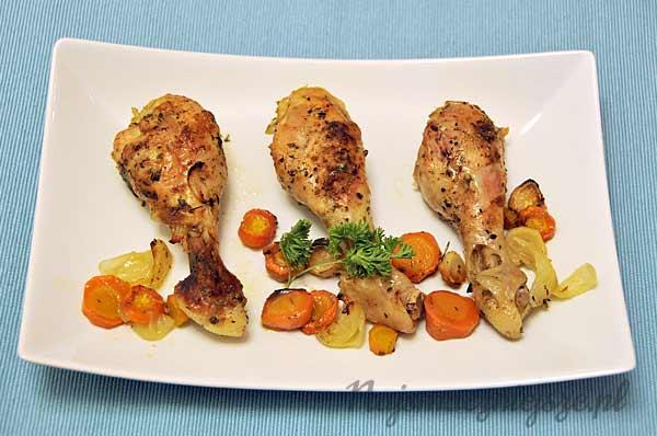 Pałki kurczaka z warzywami