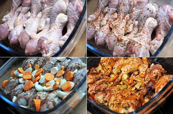 Przygotowanie pałek kurczaka
