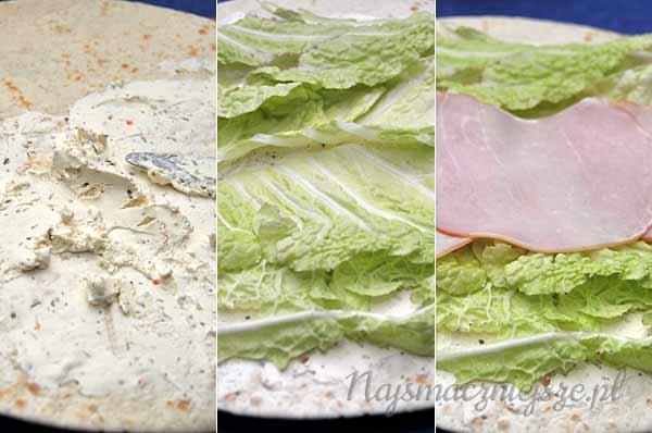 Przekąska - tortilla z polędwicą