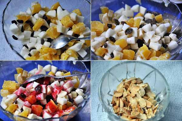 Przygotowanie sałatki z owoców