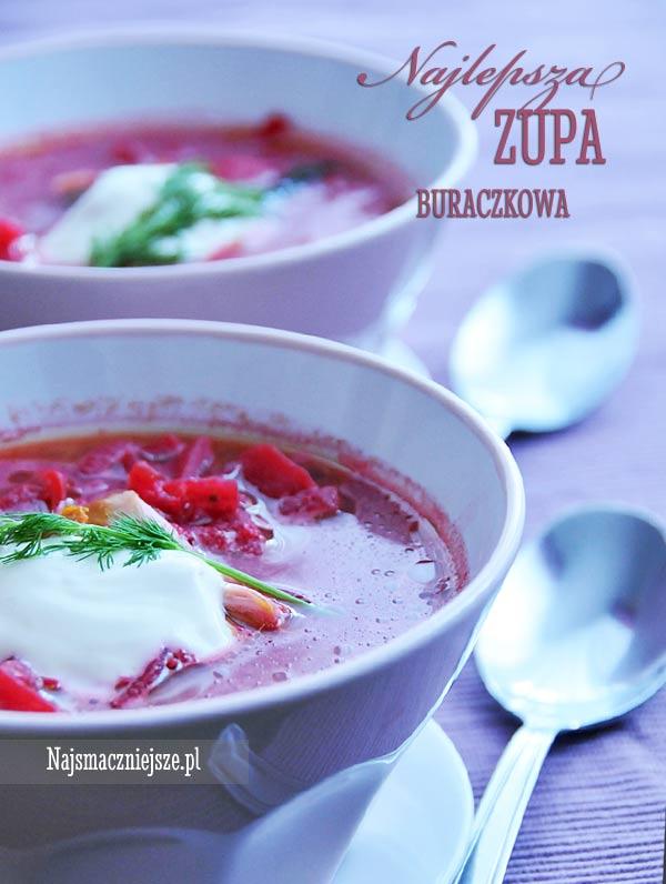 Zupa buraczkowa z mięsem