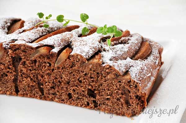 Ciasto z czekoladą i gruszką