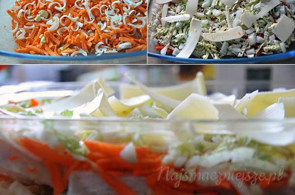Ryba przekładana warzywami
