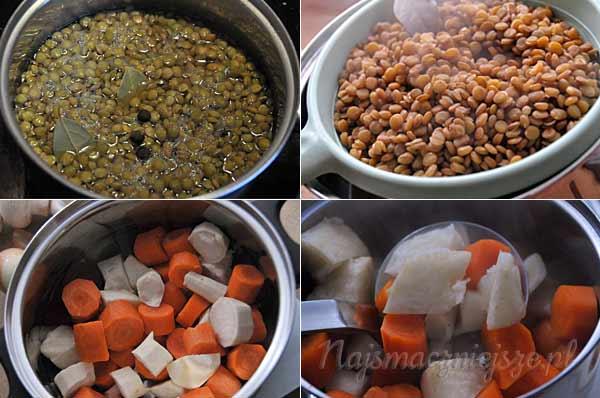 Soczewica, marchew, pietruszka