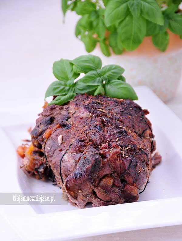 Pieczeń z warzywami i grzybami