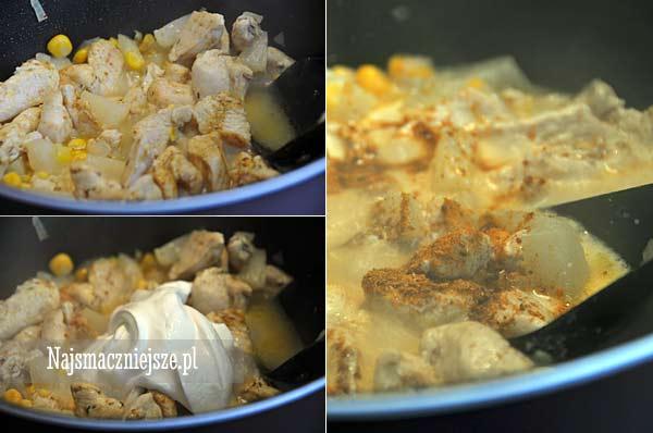 Przygotowanie kurczaka curry