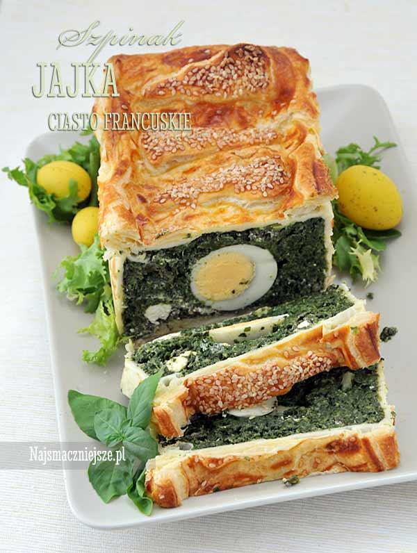 Ciasto ze szpinakiem i jajkami