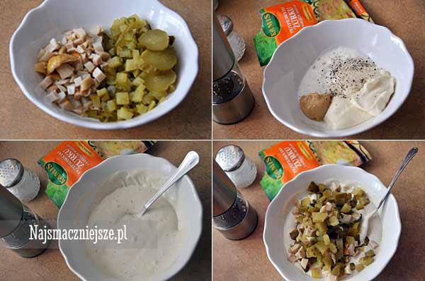 Przygotowanie sosu tatarskiego