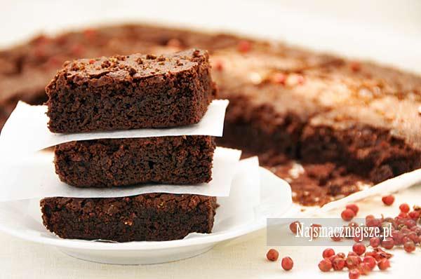 Ciasto czekoladowe z czerwonym pieprzem