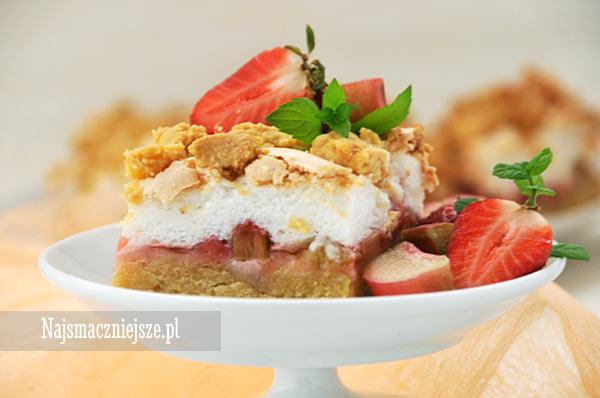 Ciasto z rabarbarem i z truskawkami