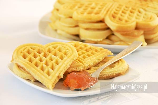 Gofry serduszka (wafle)