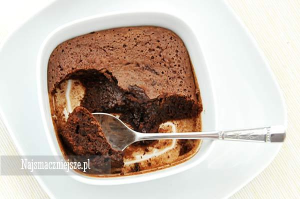 Deser na ciepło z czekoladą