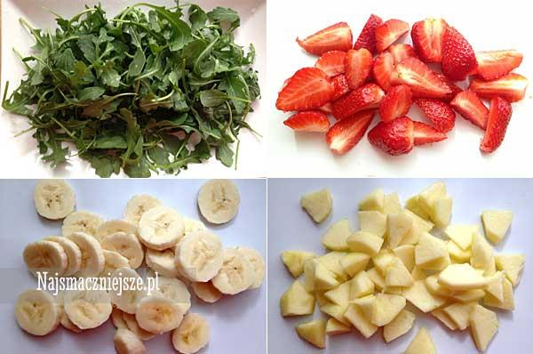 Rukola z owocami