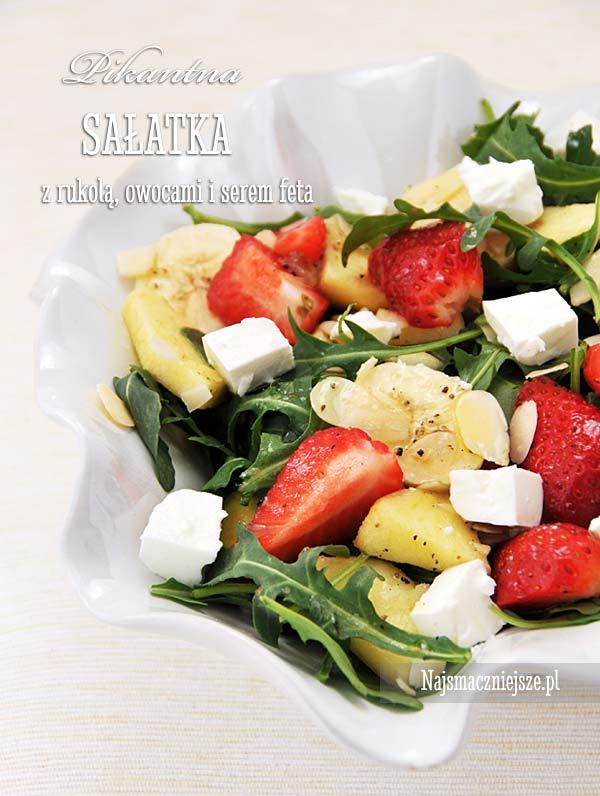Sałatka z rukolą i owocami