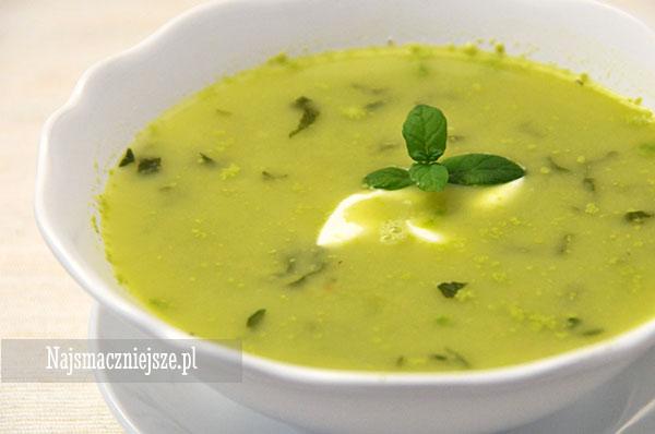 Zupa (krem) z zielonego groszku