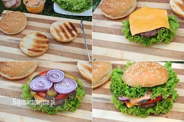 Przygotowanie hamburgera