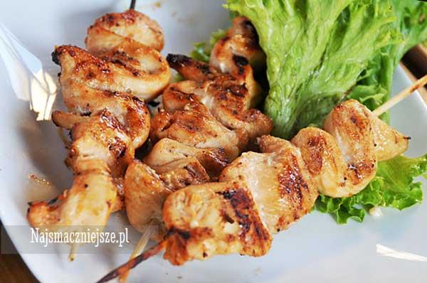 Szaszłyki z kurczaka z miodem