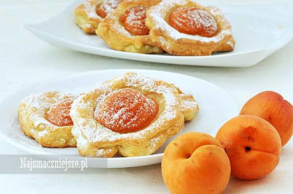 Ciasteczka serowe z morelami