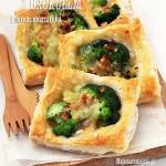 Ciasto francuskie z brokułem i mozzarellą