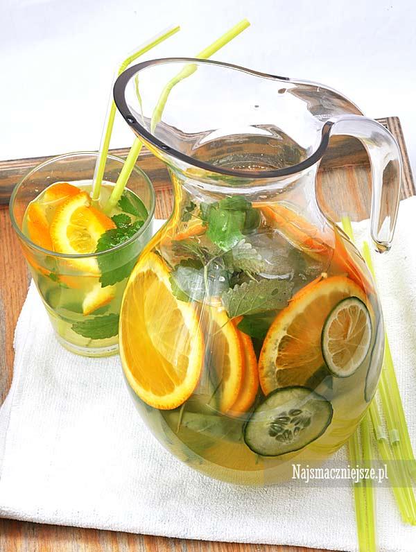 Lemoniada cytrusowa z ogórkiem