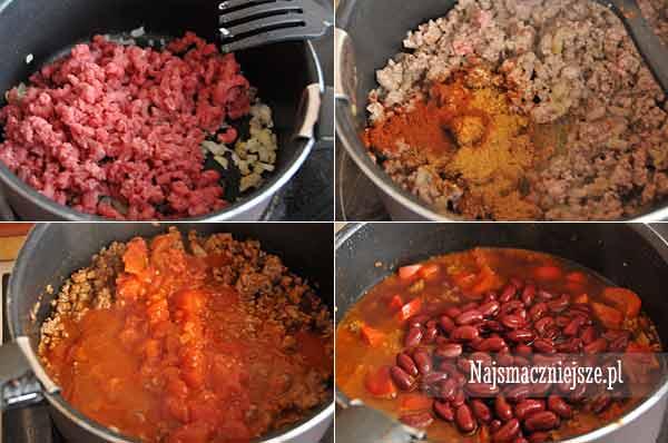 Przygotowanie Chili con carne
