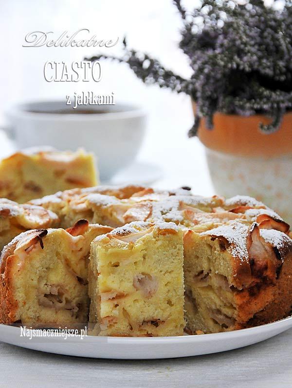 Delikatne ciasto z jabłkami